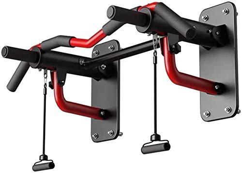 JISHIYU - Q - Barra de dominadas para montar en la pared, herramienta de entrenamiento de fuerza, barra para barbilla, capacidad de carga de 440 kg (color: rojo)