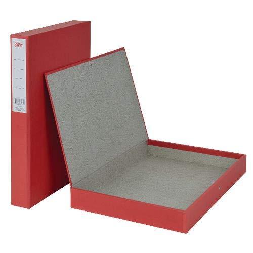 Aktenordner-Box, schmal, farbig rot