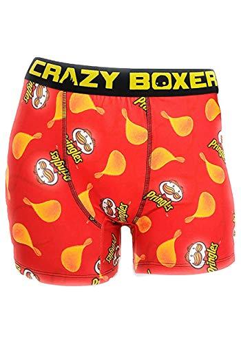 CRAZYBOXER Crazy Boxer Pringles All Over Boxer Briefs Medium Red