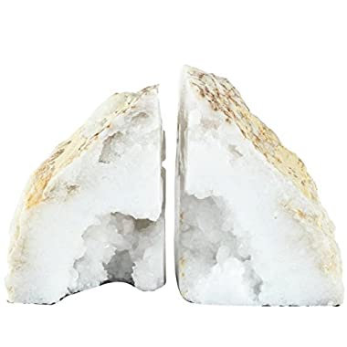 A&B Home 40068 Natural Geode Bookends Set of 2