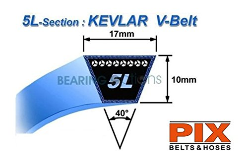 Kubota Grasmaaier Kevlar Riemen T1600 66091-25090A LB30 (SET X 2 PTO Riemen)