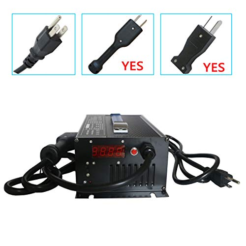 Abakoo New 36V 18A Golf Cart Battery Charger with Crowsfoot Style Connector Crows Foot Plug