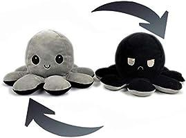 N / A 2 Piezas Reversible Muñeca Octopus Peluches, Lindo Pulpo Doble Cara Flip Muñeca Niños Familiares Amigos