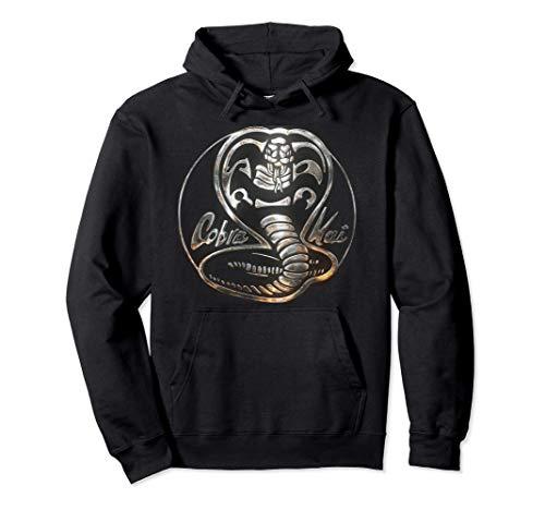 Cobra Kai Rusted Steel Snake Logo Felpa con Cappuccio