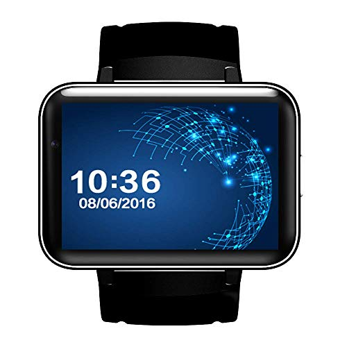 DM98 Smart Watch 2.2 inch Android OS 3G Smartwatch Phone MTK6572 Dual Core 1.2GHz 512MB RAM 4GB ROM Camera WCDMA GPS (Black)