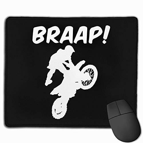 Mousepad,Brraaap Dirt Bike Motocross Gaming Mausmatte, Attraktive Dekorative Anti-Rutsch-Gaming-Pads Für Bürocomputer Dekor,22cmx18cm