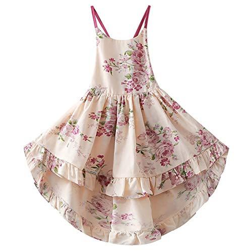 KISSOURBABY Girls Dresses Baby Girl Dresses Baby Girl Floral Dress Baby Dresses 12-18 Months Dress Straps Summer Dresses for Girls Casual Dresses for Girls Sleeveless Party Long Dresses (A3Floral,80)