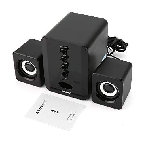 Easyeeasy SADA D-202 Altavoces Combinados con Cable USB Altavoces de computadora Reproductor de música estéreo bajo Subwoofer Caja de Sonido para teléfonos Inteligentes de PC