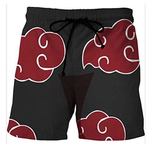 WANHONGYUE Anime Naruto Herren Badehose Strand Shorts 3D Druck Sommer Beach Shorts Boardshorts Swim Trunks 1120/3 XL
