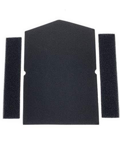 Filter-Set für Miele 6057930 + 9688381 9688380 Trockner Wärmepumpentrockner | Schwammfilter Filtermatte Kondenstrockner | Made in Germany Fusselfilter Schaumstoff Schaumfilter Sponge