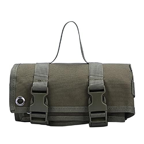 Incdnn Esterilla de tiro portátil enrollable, antideslizante, para caza al aire libre, camping, plegable, portátil, 6 x 6 x 2 5 pies