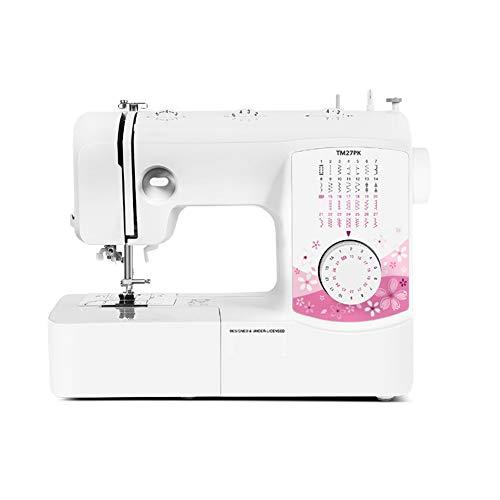 SegIBUY Draagbare naaimachine, 27 steken met 2 snelheden, elektrisch handborduurwerk, snelle naaimachine, huishoudnaaigereedschap