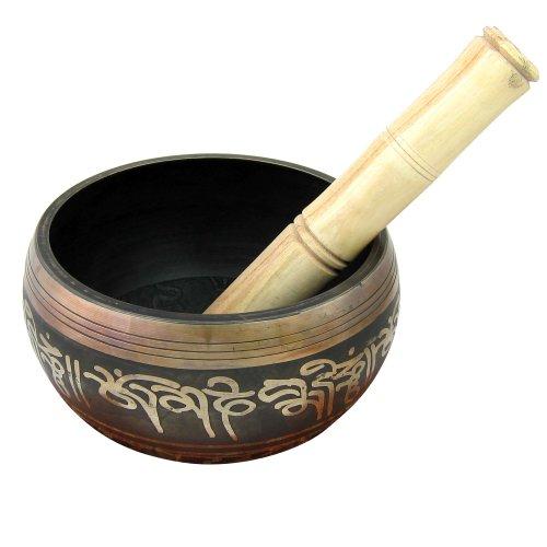 Shalinindia Tibetische Klangschalen für Meditation, Durchmesser 12,7cm, Höhe 8,89cm
