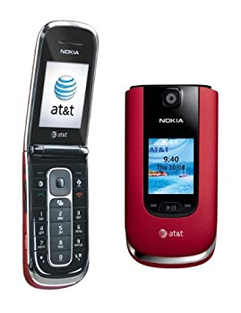 Nokia 6350 Unlocked GSM Flip Phone with Second External TFT Display 2MP Camera Video Internet Browser GPS Bluetooth MP3/MP4 Player and microSD Slot - Red