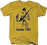 Freddie King Guitar Color T Shirt for Men - XLarge Lemon Yellow