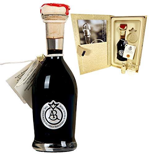 Aceto Balsamico Tradizionale di Reggio Emilia DOP 'Bollino Argento' . Almeno 20 anni di invecchiamento (100 ml) + dosatore