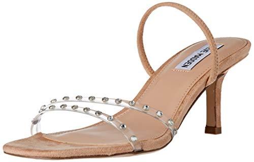 Steve Madden Damen Loft-S Sandale mit Absatz, Clear, 37 EU
