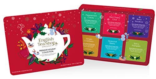 "English Tea Shop - Winter-Tee Kollektion in edler Metalldose ""Premium Holiday Collection"" Rot, BIO, 36 Teebeutel"
