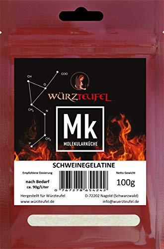 Schweinegelatine, Gelatine 230 Bloom, reines Aspik. Aspikpulver, Kaltlöslich, Spitzenqualität aus der Schweiz. Beutel 100g.