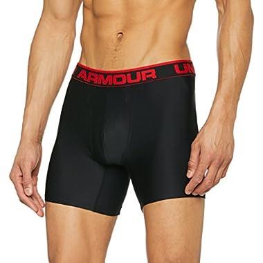 """Under Armour Men's Original Series 6"""" Boxerjock, Black/Red, Large"""