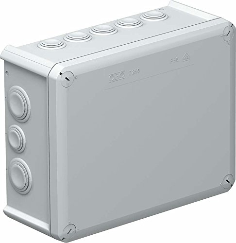 Obo-bettermann System Feste Verbindung Konus-Gehäuse Abzweigkasten 240x 190x 95mm PP/GF hellgrau