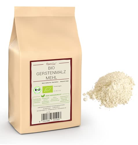 Kamelur 1kg BIO Backmalz für Brot und Brötchen aus Deutschem Anbau – Gerstenmalzmehl enzymaktiv & ohne Zusätze – Gerstenmalz hell, Backmalz BIO in biologisch abbaubarer Verpackung…
