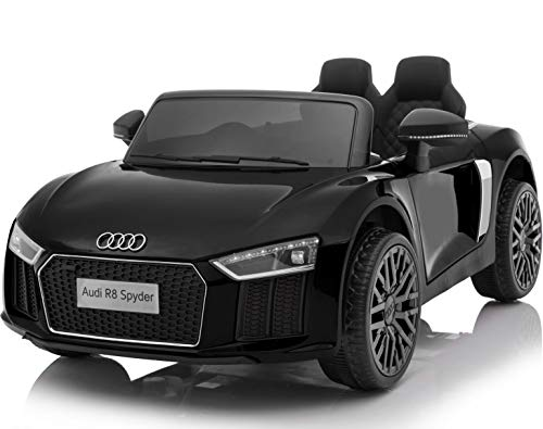 OutdoorToys HL1818-BLACK Compact Licensed Audi R8 Spyder 12V Children's...