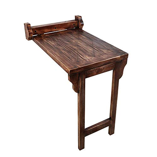 DNZ Luie Tafel - Wandmontage Retro Effen Hout Eettafel, Opklapbare Wandtafel, Laptop Bureau, Studeertafel 75 * 58 * 76Cm Bespaart ruimte