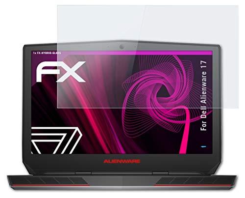 atFolix Glasfolie kompatibel mit Dell Alienware 17 Panzerfolie, 9H Hybrid-Glass FX Schutzpanzer Folie
