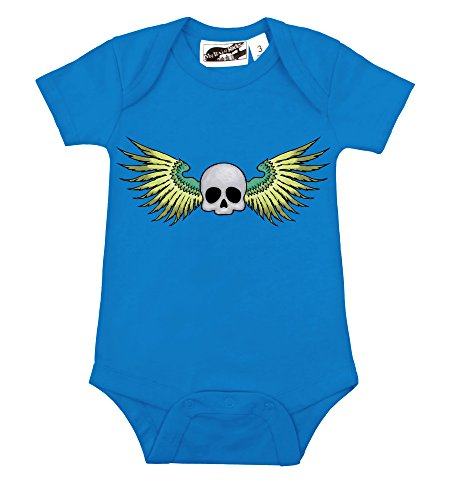 Winged Skull Turquoise One Piece (3-6 Months)