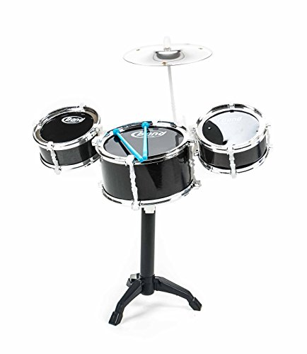 Kinderschlagzeug, Drum-Set für Kinder, 3 Trommeln, 1 Becken, 2 Sticks, Steckmontage, Größe ca. 47 x 40 x 24 cm