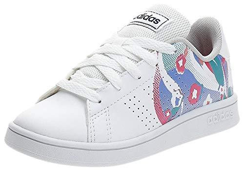 Adidas Advantage K, Zapatillas de Tenis Unisex niño, Blanco (Ftwbla/Ftwbla/Rosrea 000), 28 EU