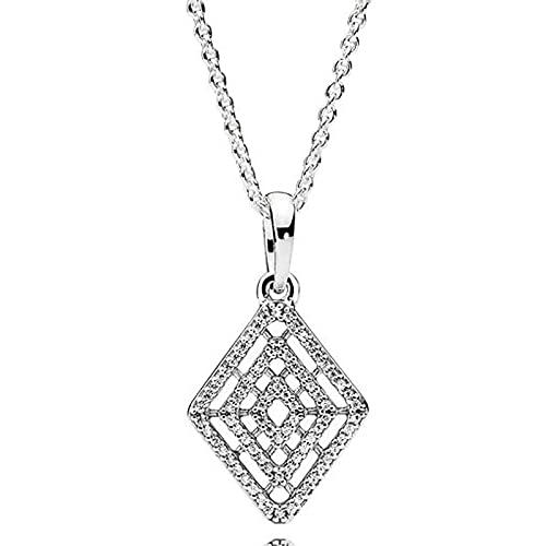ShFhhwrl Collar Líneas Geométricas Realescollar De Glamour En Cascadapara El Abalorio De Moda 1