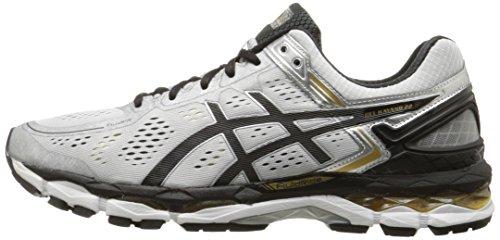 ASICS Men's Gel Kayano 22 Running Shoe, Silver/Black/Gold, 6 M US