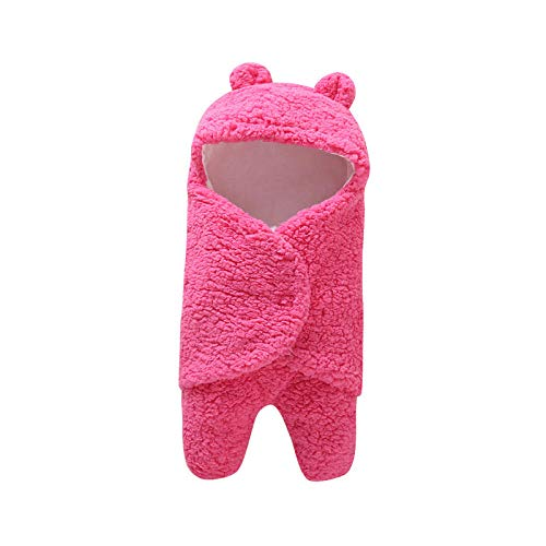 Neutral Swaddle Blanket Baby Sleeping Bag 0-6 Months Baby Products, Bubble Velvet, Autumn And Winter Out, Baby Blanket@Rose Red Child Comfort Quilt
