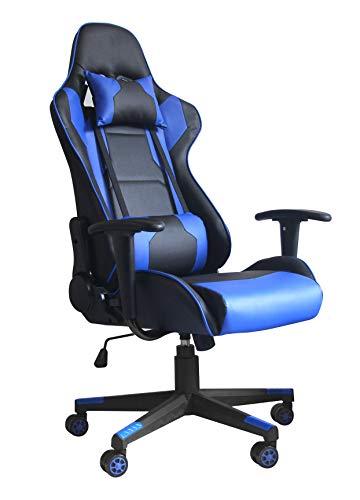 Gran Shopping Silla Gamer Gaming Consola Pc Ergonomica Reclinable - Azul