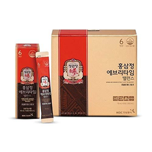 Ginseng Rojo Coreano cada vez, Everytime Balance, 1 vez al día, 30 sticks (10 ml x 30)