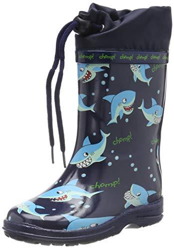 Beck Sharks, Botas de Agua para Niños, Azul (Dunkelblau 05), 25 EU