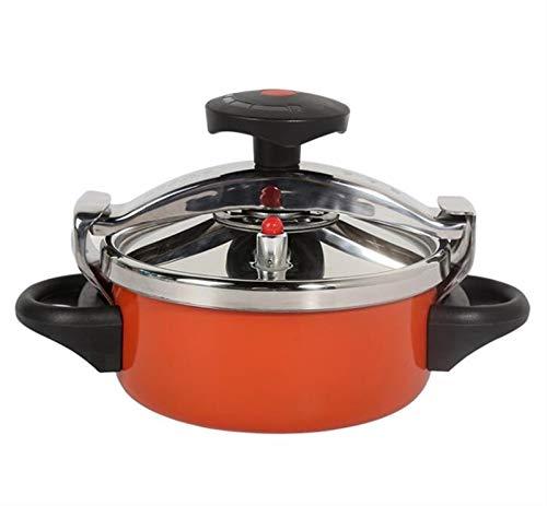 Mini olla a presión, olla a presión de presión pequeña con cubierta de acero inoxidable, olla a presión de haz de 2L, olla a presión de gas, cocina de presión universal, adecuada para cocina casera, a