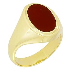 precious lane - Herrenring 585 Gold mit Carneol