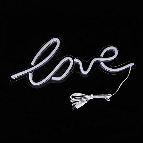 SALUTUYA Licht Zeichen, Lampe Dekor Lampe Zeichen, Liebe geformt Neon Licht Zeichen, Wonderfu Ornament für Schlafzimmer für Wand