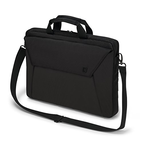 Dicota Slim Case 12-13.3 Inch EDGE Laptop Computer and Tablet Carry Case, Lightweight Sleeve Laptop Case with Handles, Black