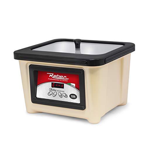 Reber – Appareil pour cuisson sous vide 10066 N, ABS, inoxydable, 10 litres, minuteur, crème