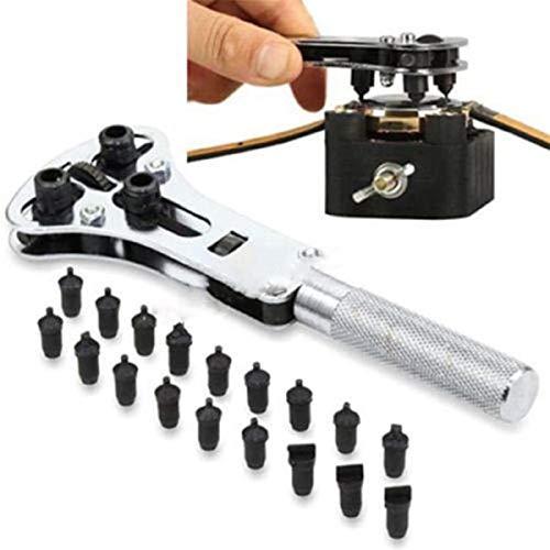 Portátil Reloj de reparación de herramientas kit reloj de pulsera abridor de caja ajustable tornillo retorno removedor llave herramienta herramienta reloj caja de llaves retroceso reloj Para reparació