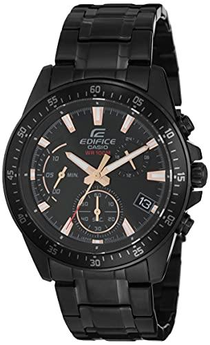 Casio Edifice Analog Black Dial Men's Watch-EFV-540DC-1BVUDF (EX415)