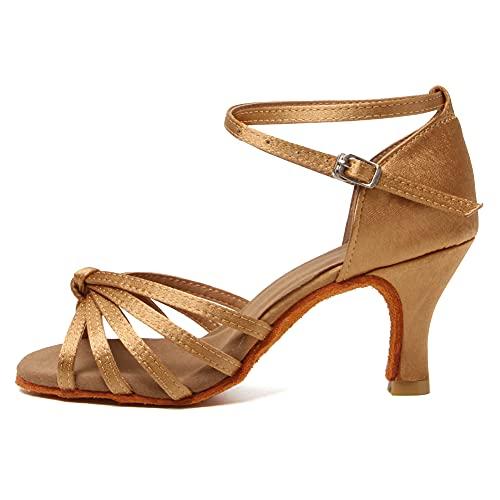 HIPPOSEUS Zapatos de Baile Latino para Mujer Zapatos de Baile de Salsa...