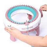 Hearthrousy Strickmaschine Kunststoff für Erwachsene Kinder Weben Webstuhl Board Rotierenden Doppelstrick Handwerk Kit Spielzeug Weaver Nadeln Runde Webstuhl Set