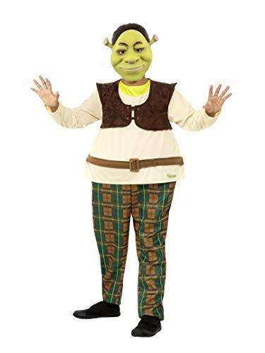 SMIFFYS Smiffy's - Costume da Shrek per bambini, con licenza ufficiale, 41512L, modello deluxe