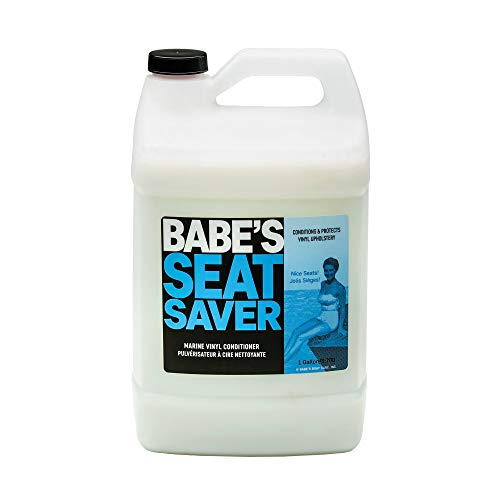 Babe's Seat Saver Boat Vinyl and Upholstery Conditioner - 1 Gallon Refill - Silicone-Free, Non-Slick UV Protectant for Marine Interiors