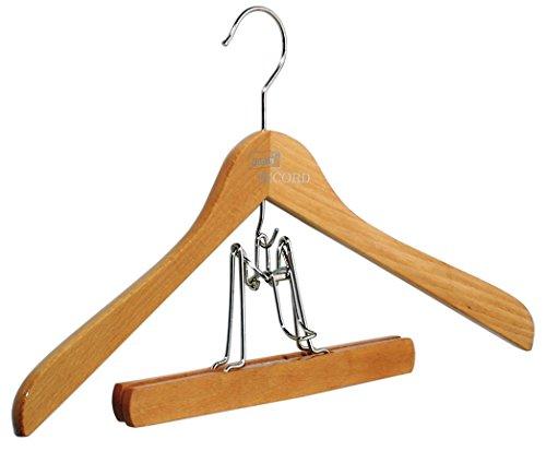 Pieperconcept Record Lot de 10 cintres avec cintre en hêtre naturel Record Duo avec tendeur pour pantalon